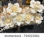 funeral wood flowers voluntary... | Shutterstock . vector #724221061