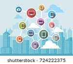 networking concept for... | Shutterstock .eps vector #724222375