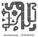 map from different fragments of ... | Shutterstock .eps vector #724228165