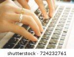 blurry keyboard  | Shutterstock . vector #724232761