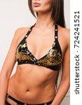 beautiful woman in sequins...   Shutterstock . vector #724241521
