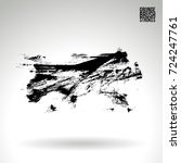 black brush stroke and texture. ... | Shutterstock .eps vector #724247761