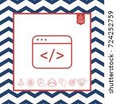 code editor icon | Shutterstock .eps vector #724252759