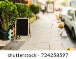 outdoor cafe menu | Shutterstock . vector #724258597