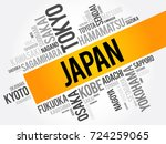 list of cities in japan  word... | Shutterstock .eps vector #724259065