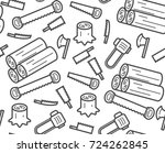 carpenter equipment tool and... | Shutterstock .eps vector #724262845