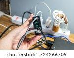 usb port technology | Shutterstock . vector #724266709