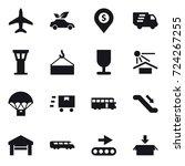 16 vector icon set   plane  eco ... | Shutterstock .eps vector #724267255
