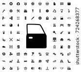 car door icon. set of filled... | Shutterstock .eps vector #724268377