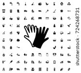 gloves icon. set of filled... | Shutterstock .eps vector #724268731