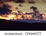 dolomites skyline at sunset... | Shutterstock . vector #724269277