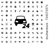 24 7 car service icon. set of... | Shutterstock .eps vector #724272571