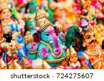 indian hindu god lord ganesh... | Shutterstock . vector #724275607