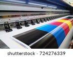 wide format inkjet printer | Shutterstock . vector #724276339