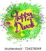 indian festival of lights... | Shutterstock .eps vector #724278349
