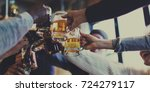craft beer booze brew alcohol...   Shutterstock . vector #724279117