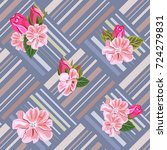 vintage seamless pattern with... | Shutterstock .eps vector #724279831