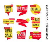 sale banner collection vector.... | Shutterstock .eps vector #724286545