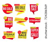 sale banner set vector.... | Shutterstock .eps vector #724286569