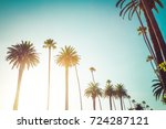 rodeo drive in beverly hills... | Shutterstock . vector #724287121