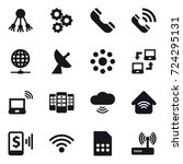16 vector icon set   share ... | Shutterstock .eps vector #724295131