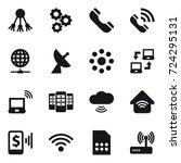 16 vector icon set   share ... | Shutterstock .eps vector #724295131