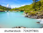 moosjisee lake  one of top five ... | Shutterstock . vector #724297801