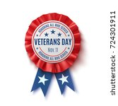 veterans day badge. realistic ... | Shutterstock . vector #724301911