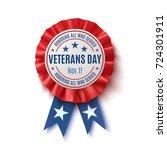 veterans day badge. realistic ...   Shutterstock . vector #724301911