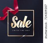 sale or gift vector banner. red ... | Shutterstock .eps vector #724309207