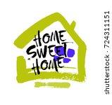 hand lettering typography... | Shutterstock .eps vector #724311151