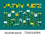 poster with plant life... | Shutterstock .eps vector #724314394