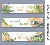 fern frond vector illustration... | Shutterstock .eps vector #724317415