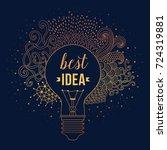 light bulb made of handdrawn... | Shutterstock .eps vector #724319881