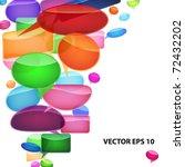 speech bubbles background. | Shutterstock .eps vector #72432202