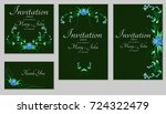a set of invitations with... | Shutterstock .eps vector #724322479