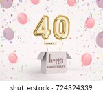 40 years anniversary  happy... | Shutterstock . vector #724324339