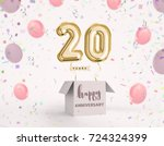 20 years anniversary  happy... | Shutterstock . vector #724324399
