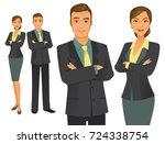 business team | Shutterstock .eps vector #724338754