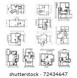 big set of groungfloor...   Shutterstock .eps vector #72434647