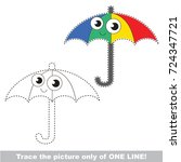 funny colorful umbrella to be... | Shutterstock .eps vector #724347721