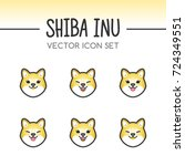 cute shiba inu dog breed vector ... | Shutterstock .eps vector #724349551