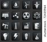 ecology icon on square black... | Shutterstock .eps vector #72435964