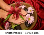 footcare and pampering at the... | Shutterstock . vector #72436186