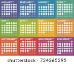 simple colorful calendar for... | Shutterstock .eps vector #724365295