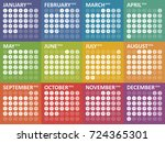 simple colorful calendar for...   Shutterstock .eps vector #724365301