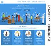 one flat craftsman internet... | Shutterstock . vector #724369507