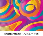 creative geometric colorful... | Shutterstock .eps vector #724374745