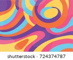 creative geometric colorful...   Shutterstock .eps vector #724374787