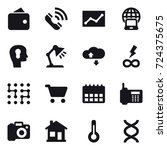 16 vector icon set   wallet ... | Shutterstock .eps vector #724375675